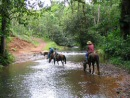 horse riding bijagual waterfall