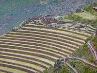 terraces at ollantaytambo